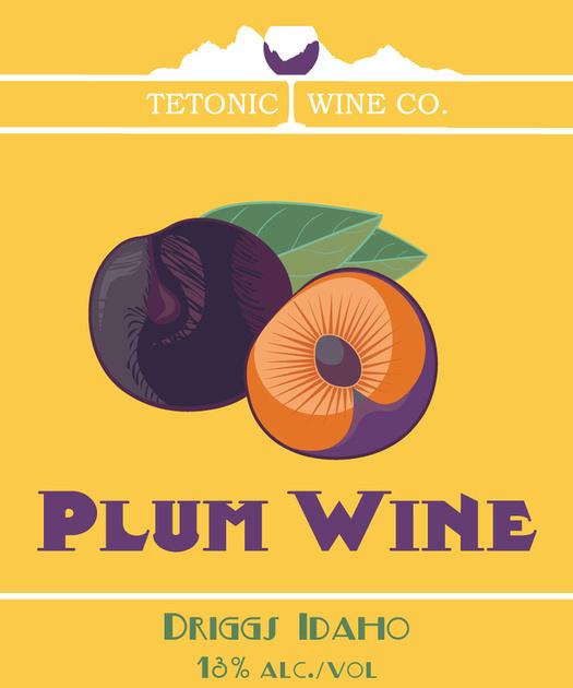 Tetonic Plum Wine Front